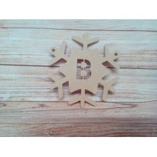 4mm MDF Snowflake Bunting 200mm
